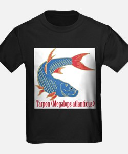 Tarpon (Megalops atlanticus) Ash Grey T-Shirt