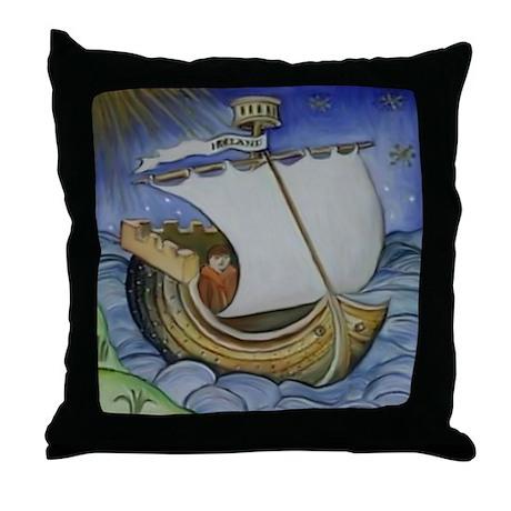 Brendan the Navigator Throw Pillow