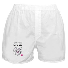 sum bunny luv's you Boxer Shorts
