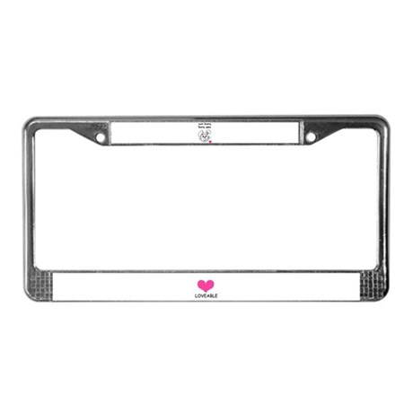 sum bunny luv's you License Plate Frame