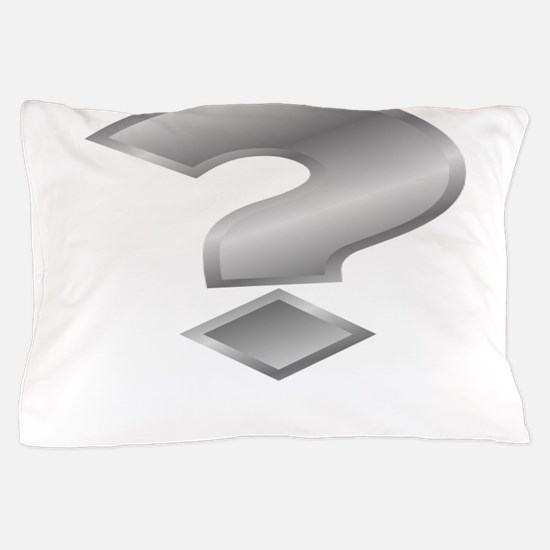 Silver Question Mark Pillow Case