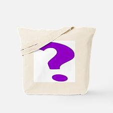 Purple Question Mark Tote Bag