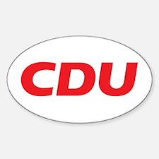 CDU Logo 2017 Sticker (Oval)