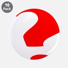 "Red Question Mark 3.5"" Button (10 pack)"