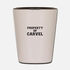 Property of CARVEL Shot Glass