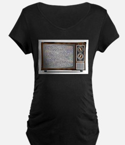 Old Television Static Maternity T-Shirt