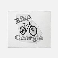 Bike Georgia Throw Blanket