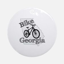 Bike Georgia Round Ornament