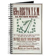 69th Irish Regiment Recruitment Poster Journal