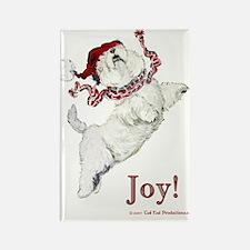 Westie Terrier Joy Rectangle Magnet