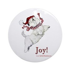 Westie Terrier Joy Ornament (Round)