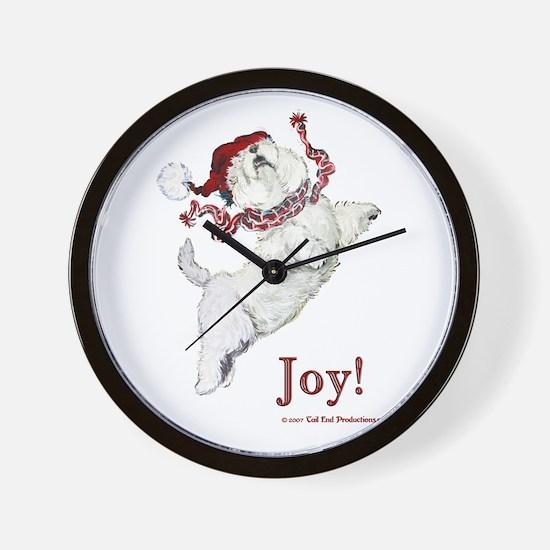 Westie Terrier Joy Wall Clock