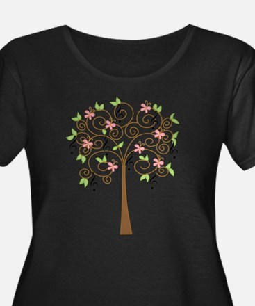 Music Treble Clef Tree Gift Plus Size T-Shirt
