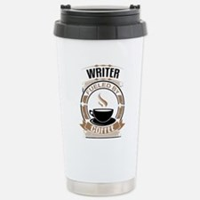 Writer Fueled By Coffee Travel Mug