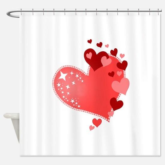 Hearts of Love Cute Shower Curtain