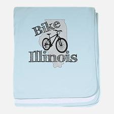 Bike Illinois baby blanket