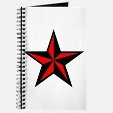 Red Punk Rock Nauticle Star Journal