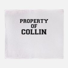 Property of COLLIN Throw Blanket
