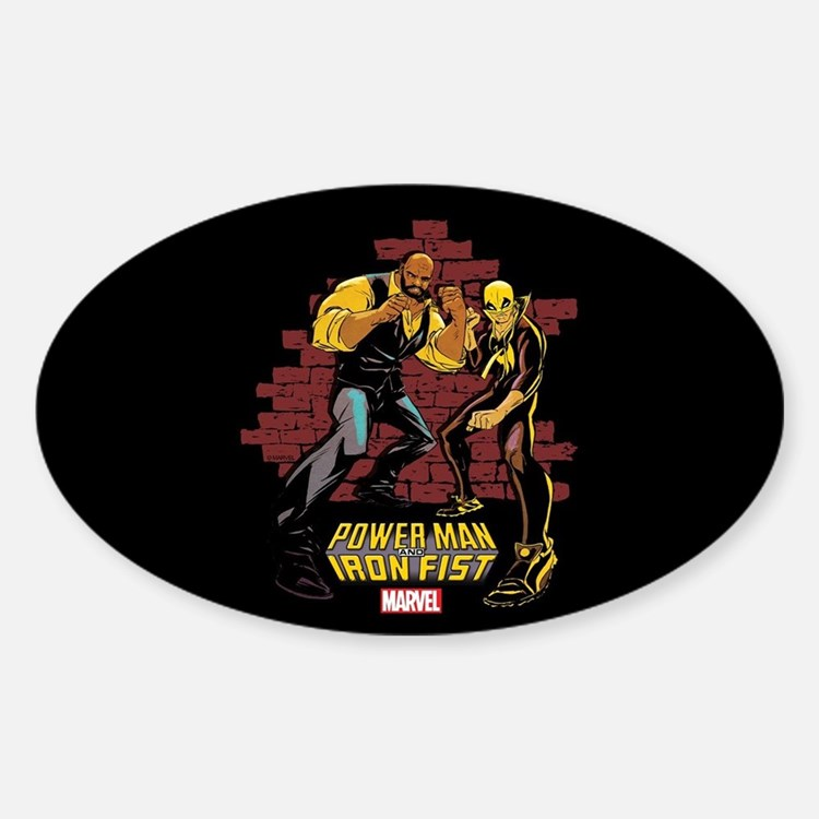 Power Man & Iron Fist Brick Wall Decal