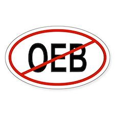 OEB Oval Decal