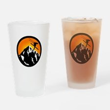 SKIING Drinking Glass