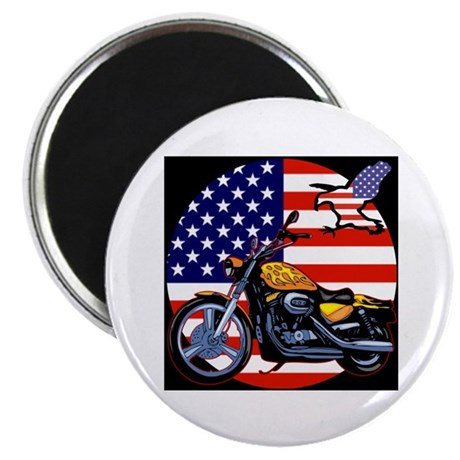 Patriotic Chopper Magnet