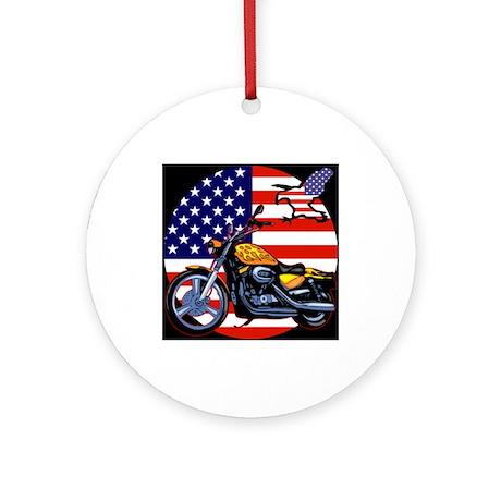 Patriotic Chopper Ornament (Round)