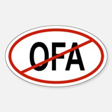 OFA Oval Decal