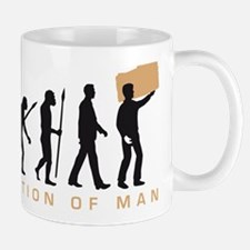 Evolution of man furniture mover Mugs