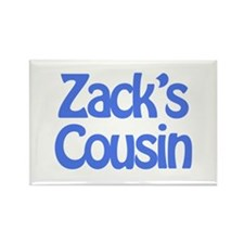 Zack's Cousin Rectangle Magnet