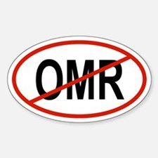 OMR Oval Decal