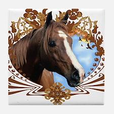 Horse Head Crest Tile Coaster
