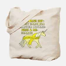Unicorns Support Sarcoma Cancer Awareness Tote Bag
