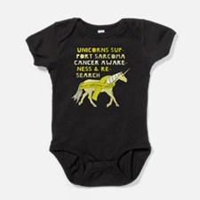 Unicorns Support Sarcoma Cancer Awar Baby Bodysuit