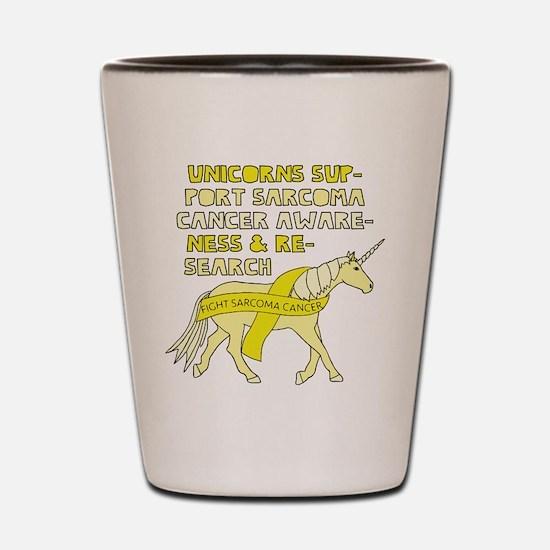 Unicorns Support Sarcoma Cancer Awarene Shot Glass