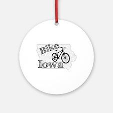Bike Iowa Round Ornament