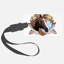 Horse Head Crest Luggage Tag