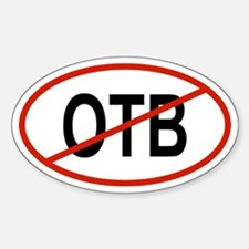 OTB Oval Decal