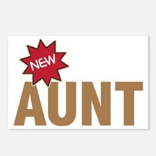 New Aunt Auntie Baby Birth Postcards (Package of 8