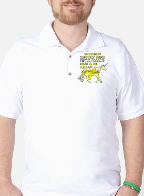 Unicorns Support Spina Bifida Awareness Golf Shirt