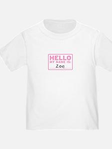 Hello My Name Is: Zoe - T