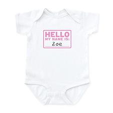 Hello My Name Is: Zoe - Onesie