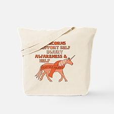 Unicorns Support Self Injury Awareness & Tote Bag