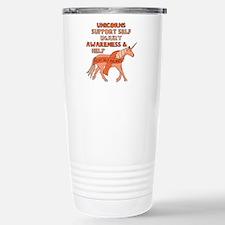 Unicorns Support Self I Stainless Steel Travel Mug