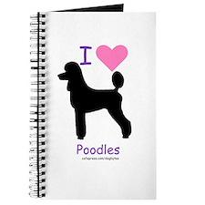 """""""I love Poodles"""" Journal"""