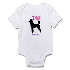 """I love Poodles"" Infant Bodysuit"