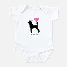 """""""I love Poodles"""" Infant Bodysuit"""