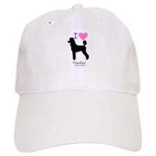"""I love Poodles"" Baseball Cap"
