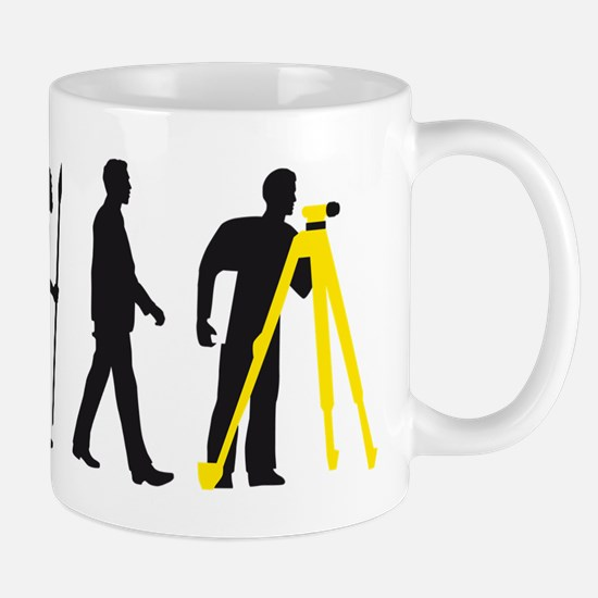 Evolution of man surveying technician Mugs