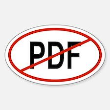 PDF Oval Decal